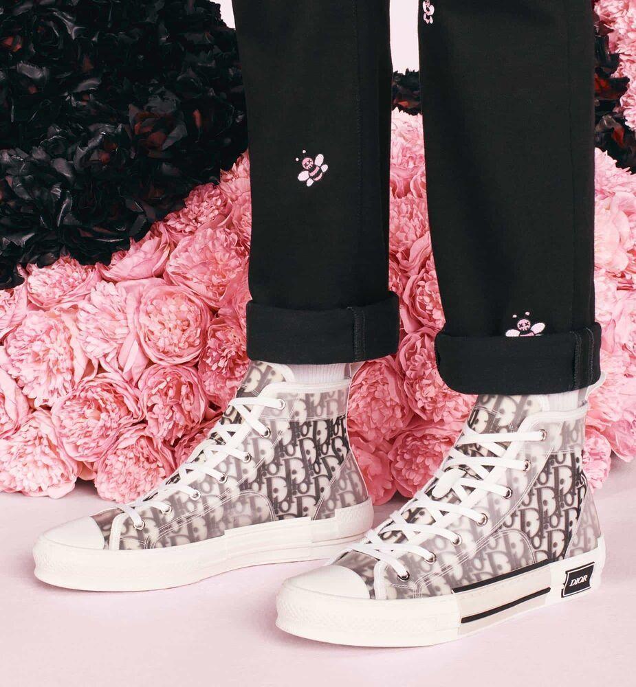 Dior x Kaws B23 High Top White Sneakers