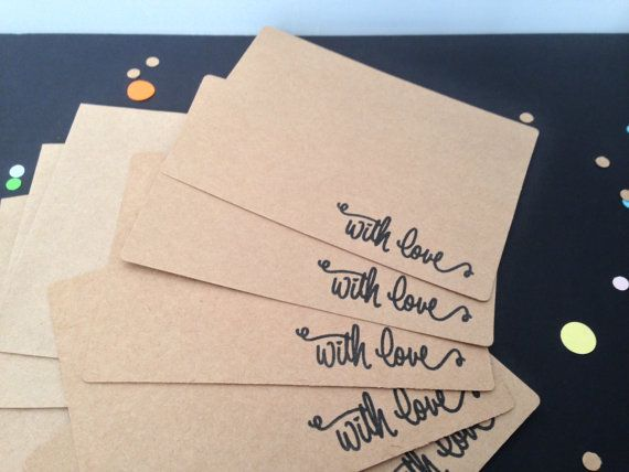 10 x With Love Cards Set \u2013 Wedding Thank you Note cards \u2013 Baby