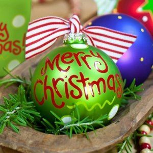 Merry Christmas Dot Holiday Ornament