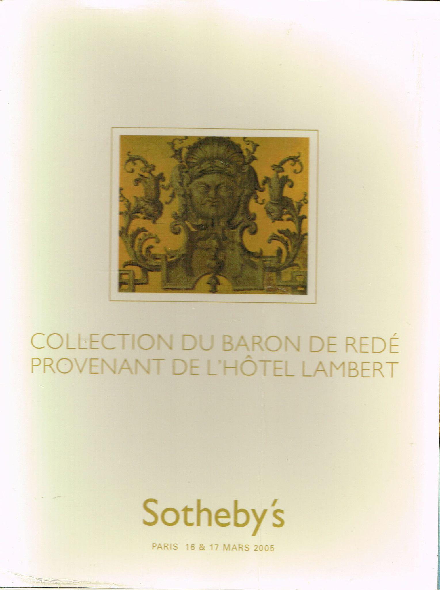 Collection Du Baron De Rede Provenant De L'Hotel Lambert