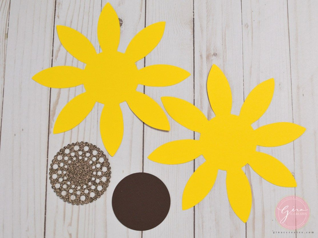Download DIY Paper Sunflower with free SVG & template | Paper ...