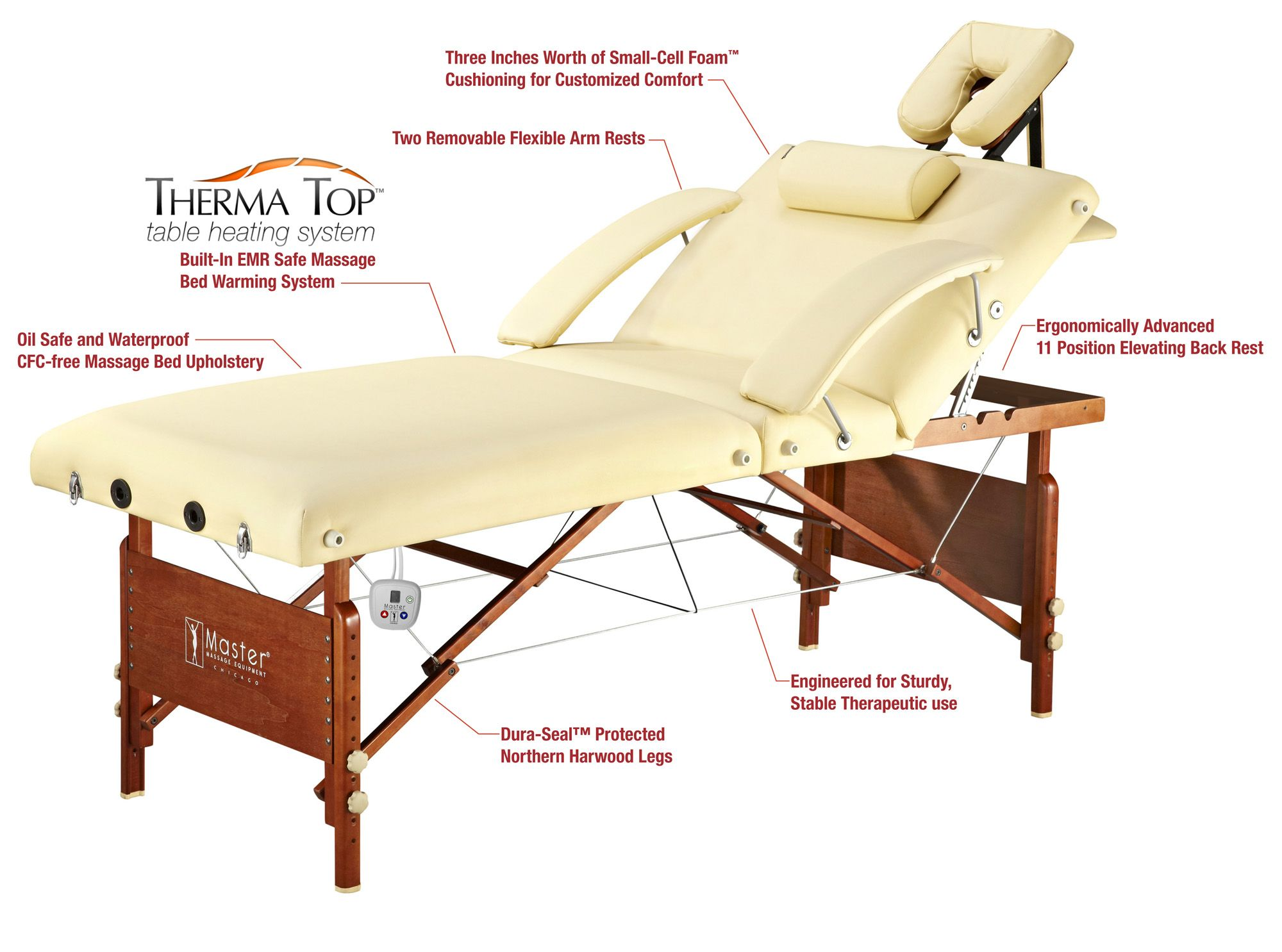 the salon pro heated portable masssage table from master massage tables