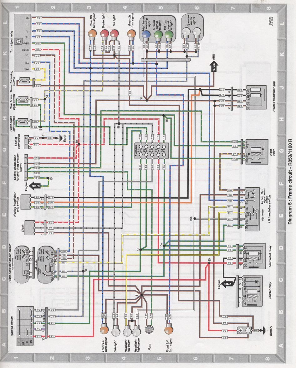 Wiring Diagram Of Karizma R : Bmw r electrical wiring diagram