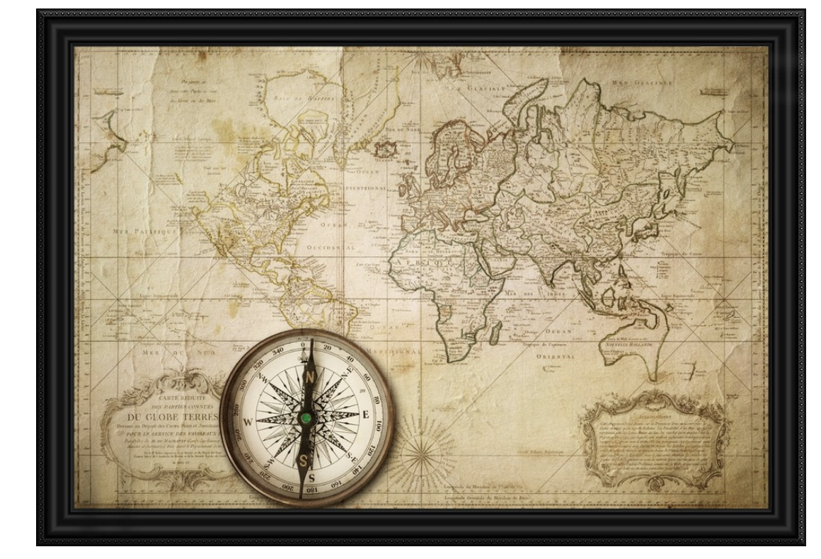 Vintage World Map With Compass Compass Wallpaper Old Map World Map Wallpaper