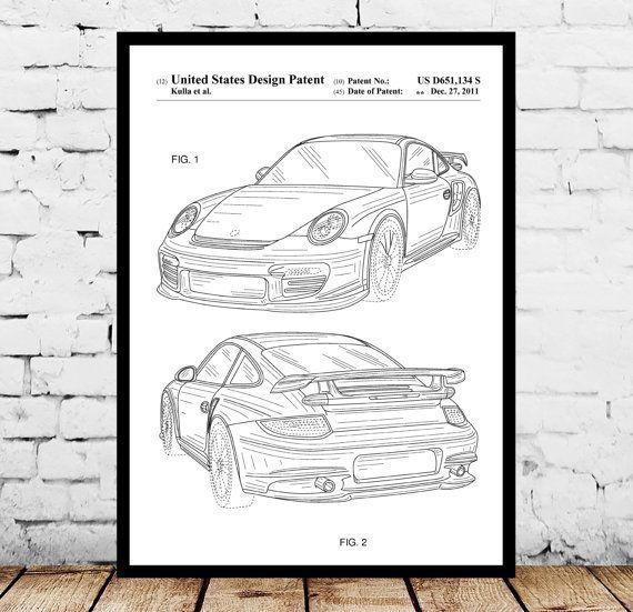 Cool Porsche 2017: Porsche Patent, Porsche Poster, Porsche Print, Porsche Art, Porsche Decor, Porsc...  Ezra Wayne Check more at http://carsboard.pro/2017/2017/03/22/porsche-2017-porsche-patent-porsche-poster-porsche-print-porsche-art-porsche-decor-porsc-ezra-wayne/