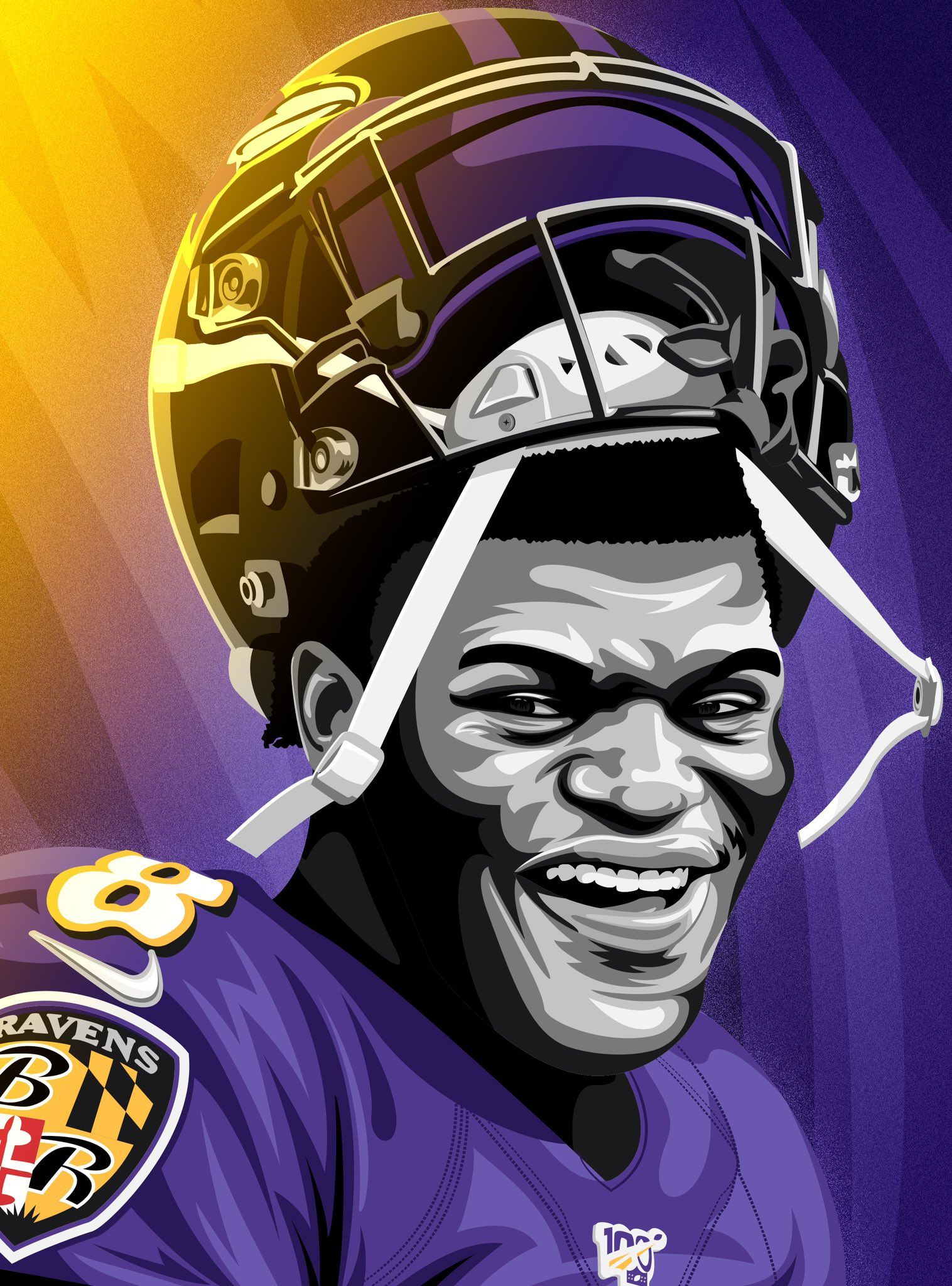 Kyle K On Twitter Baltimore Ravens Football Nfl Football Art Ravens Football