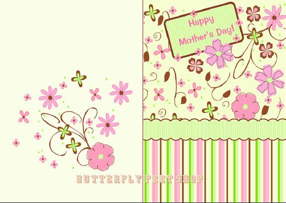 Printable Birthday Card and Mothers Day Card Set of 2 Printable – Printable Birthday Card