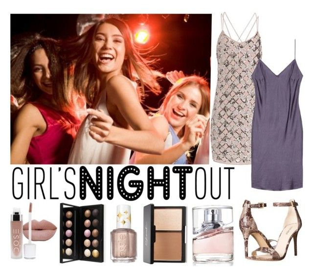 """""""Girls Night Out"""" by leti-barnes ❤ liked on Polyvore featuring beauty, Nine West, Essie, HUGO and GNO"""