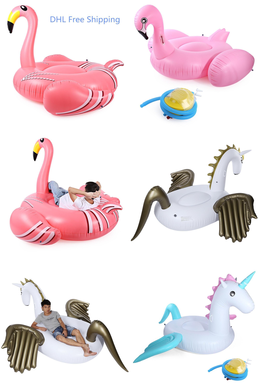 Visit to Buy] Air Mattresses Inflatable Giant Pegasus Flamingo
