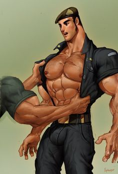 cartoon comics gay Muscle