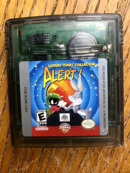 Nintendo Gameboy Looney Tunes Alert Game With Case