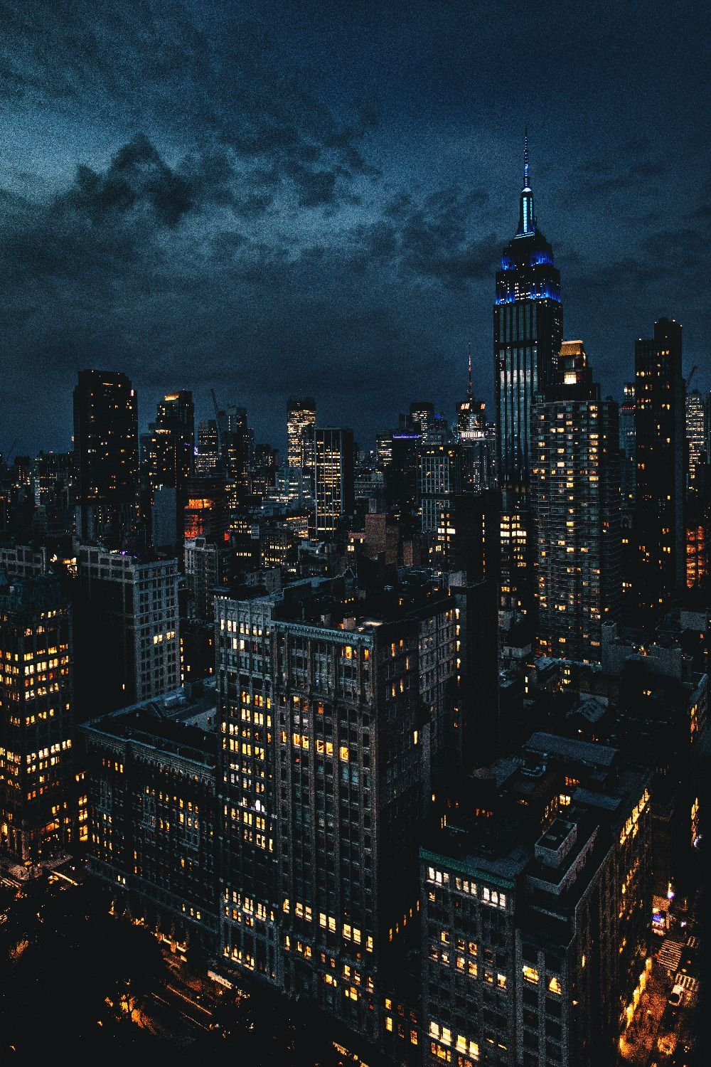Downtown Night View From Above City Landscape City Aesthetic City Wallpaper