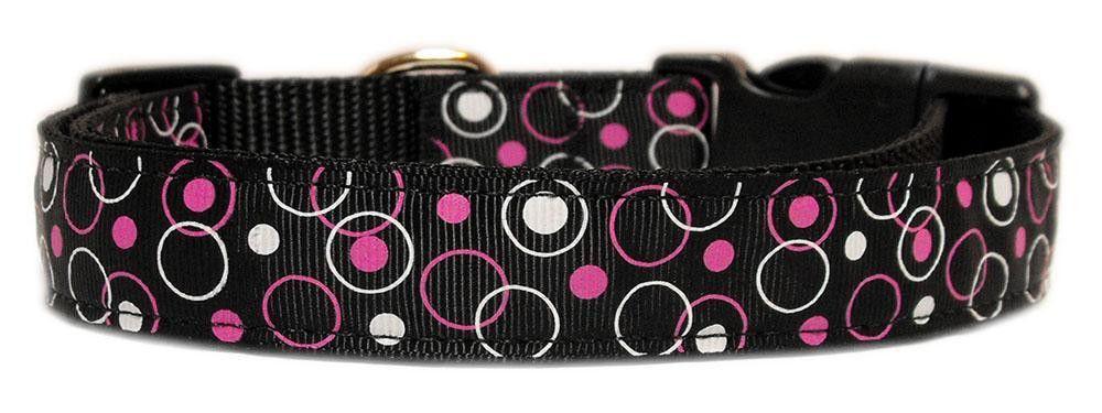 Retro Nylon Ribbon Collar Black Large