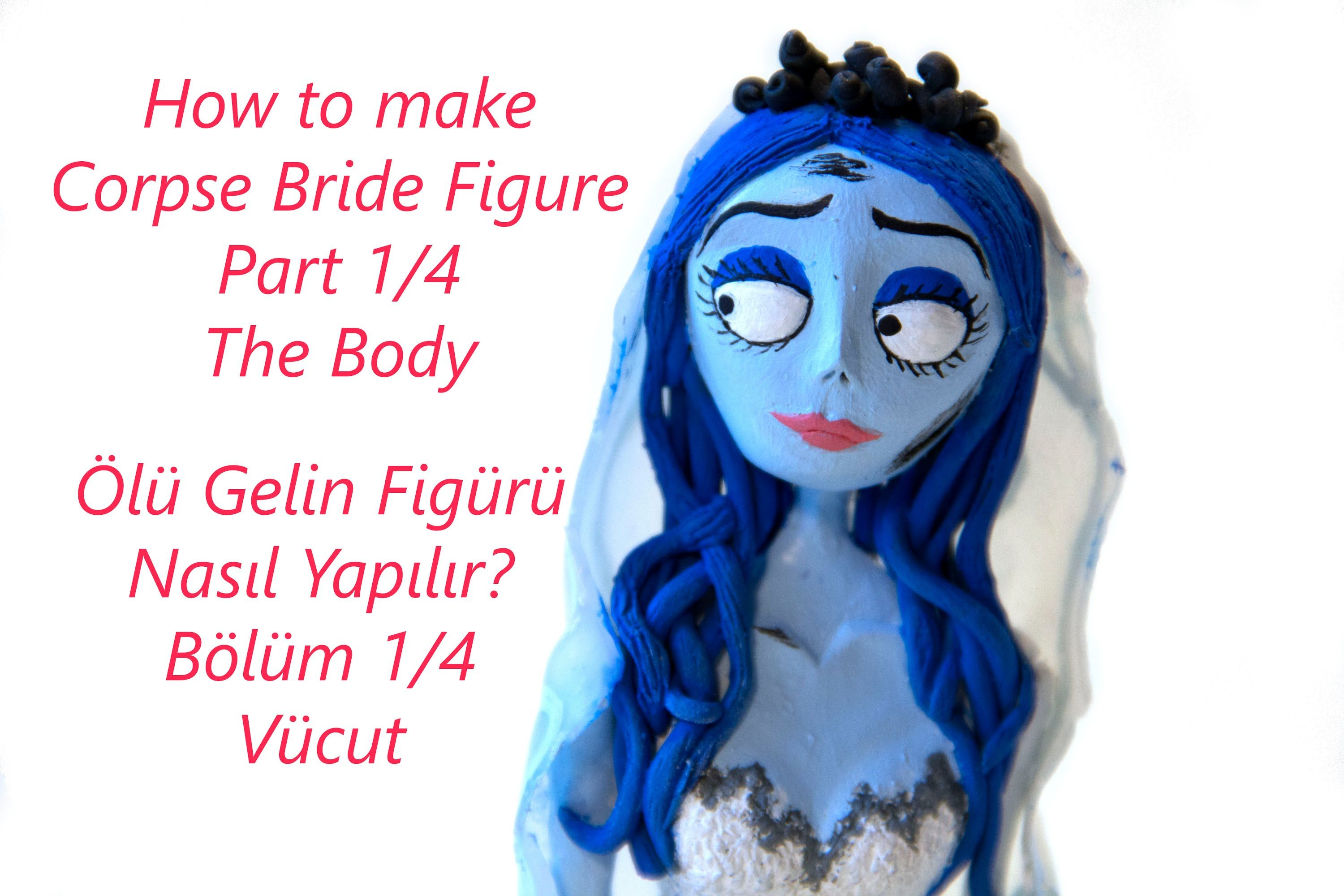 Corpse Bride Polymer Clay Figure Tutorial Part 1/4 The