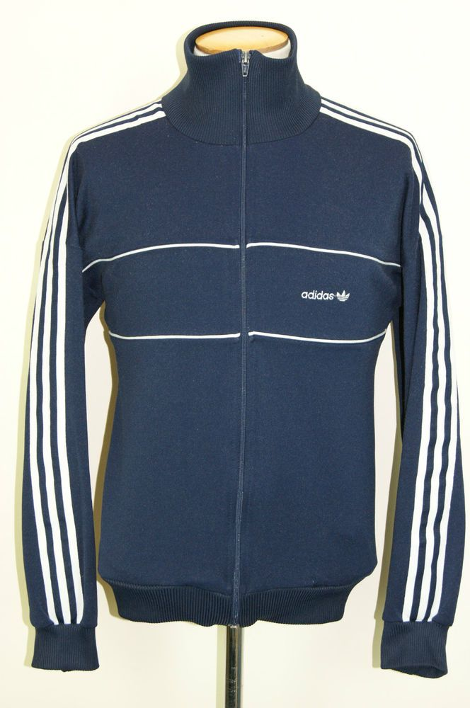 483d30a4350 VINTAGE 70s ADIDAS TRACKSUIT TOP TRACK JACKET OLDSCHOOL RARE RETRO Size D7  LARGE #adidas #Tracksuit