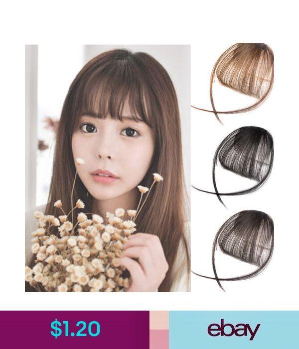 Hair Extensions   Wigs Hot Women Hair Clip Bangs False Piece Clips Fake Hair  Extension Front Neat Bang  ebay  Fashion fbae985a5c