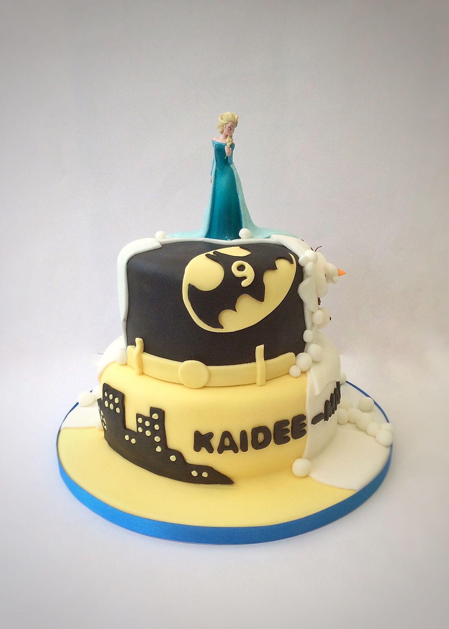 Half Frozen cake, half Batman cake | Boy cakes | Pinterest | Batman ...