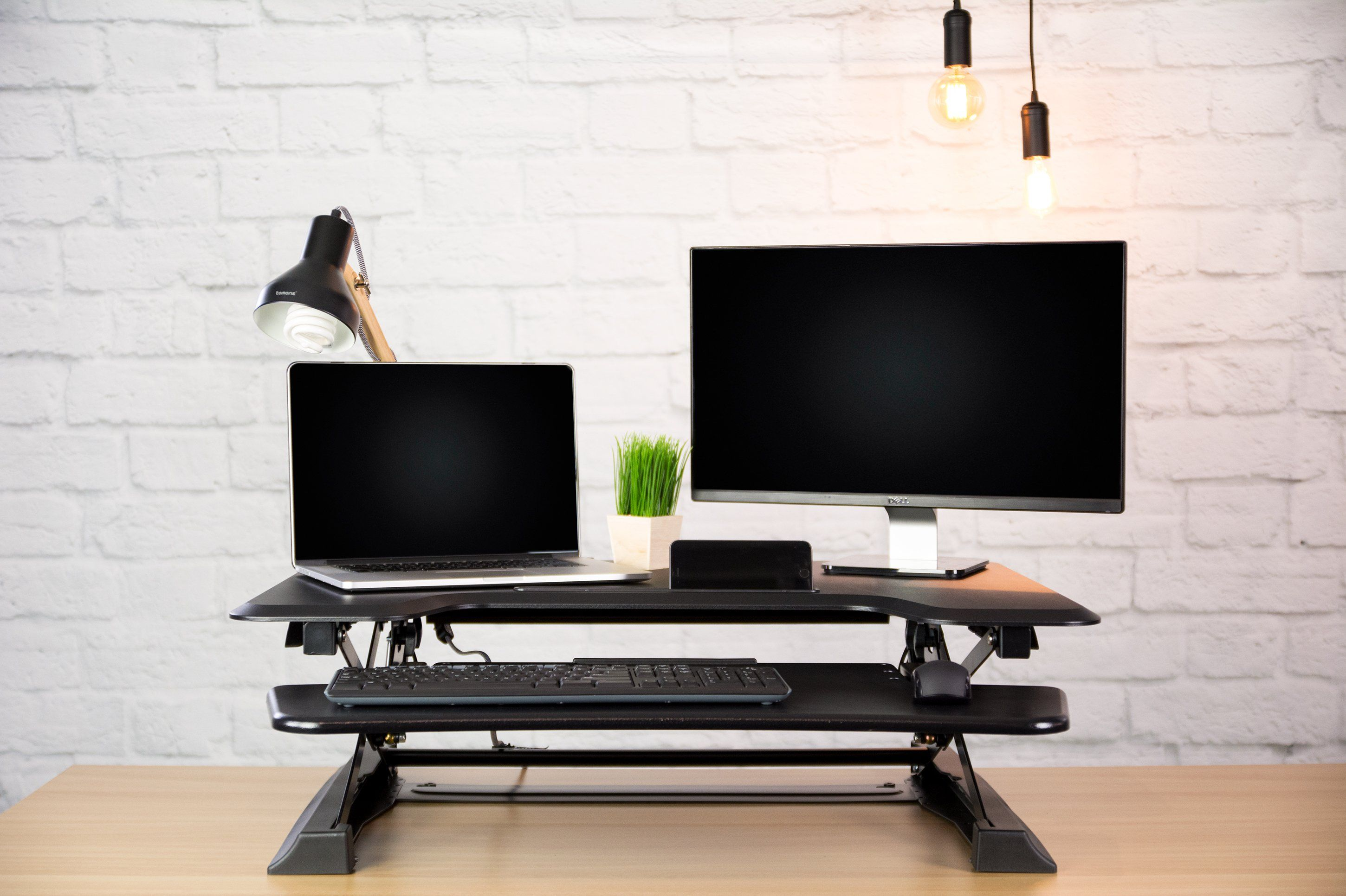 Black height adjustable
