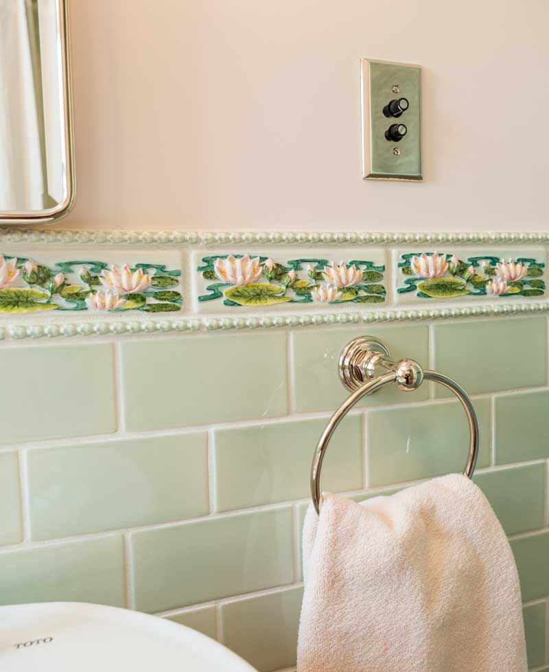Fun With Bathroom Tile Water Lilies Border Tiles And