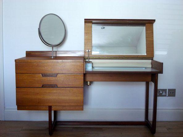 Uniflex Dressing Table 1960s Teak Rosewood Retro Desk Vintage In South London Retro Desk Vintage Desk Mid Century Furniture