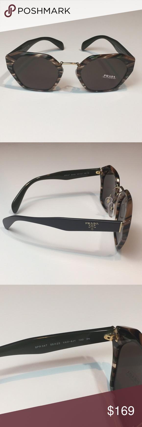 c150991c9f32 Gorgeous! Authentic Women s Prada Sunglasses Guaranteed Authentic Women s Prada  Sunglasses New Prada Sunglasses Women Gray Brown VAN-4J1 SPR04T 55mm ...