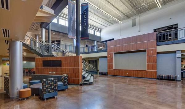 Learn About AMDGs Design Solutions For The Grand Rapids Christian High School Educational Improvements Including A Two Story Hub Gathering