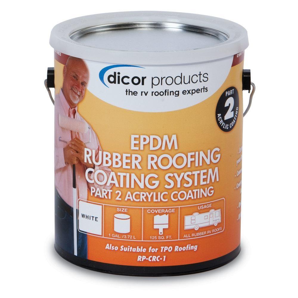 Dicor EPDM Roof Acrylic Coating 1 Gallon, TanRPCRCT1
