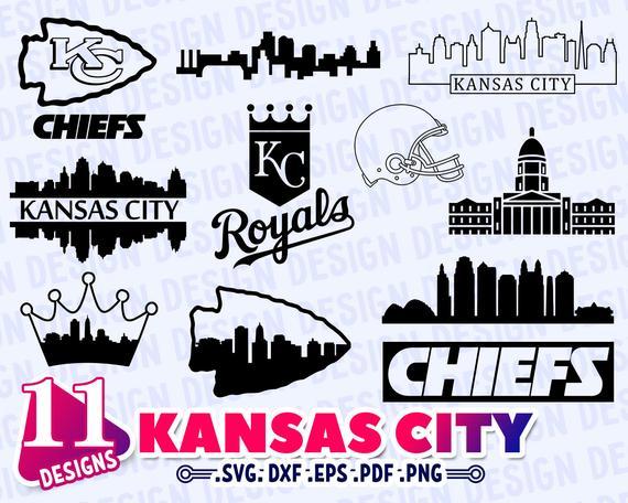 Kc Chiefs Svg Free Kc Chiefs Svg Kansas City Skyline Kansas City Chiefs Logo City Skyline Silhouette