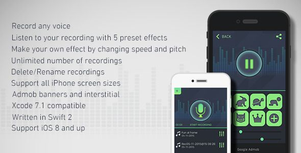 Cool Voice Recorder & Changer with Admob   Code Script   Mobile app