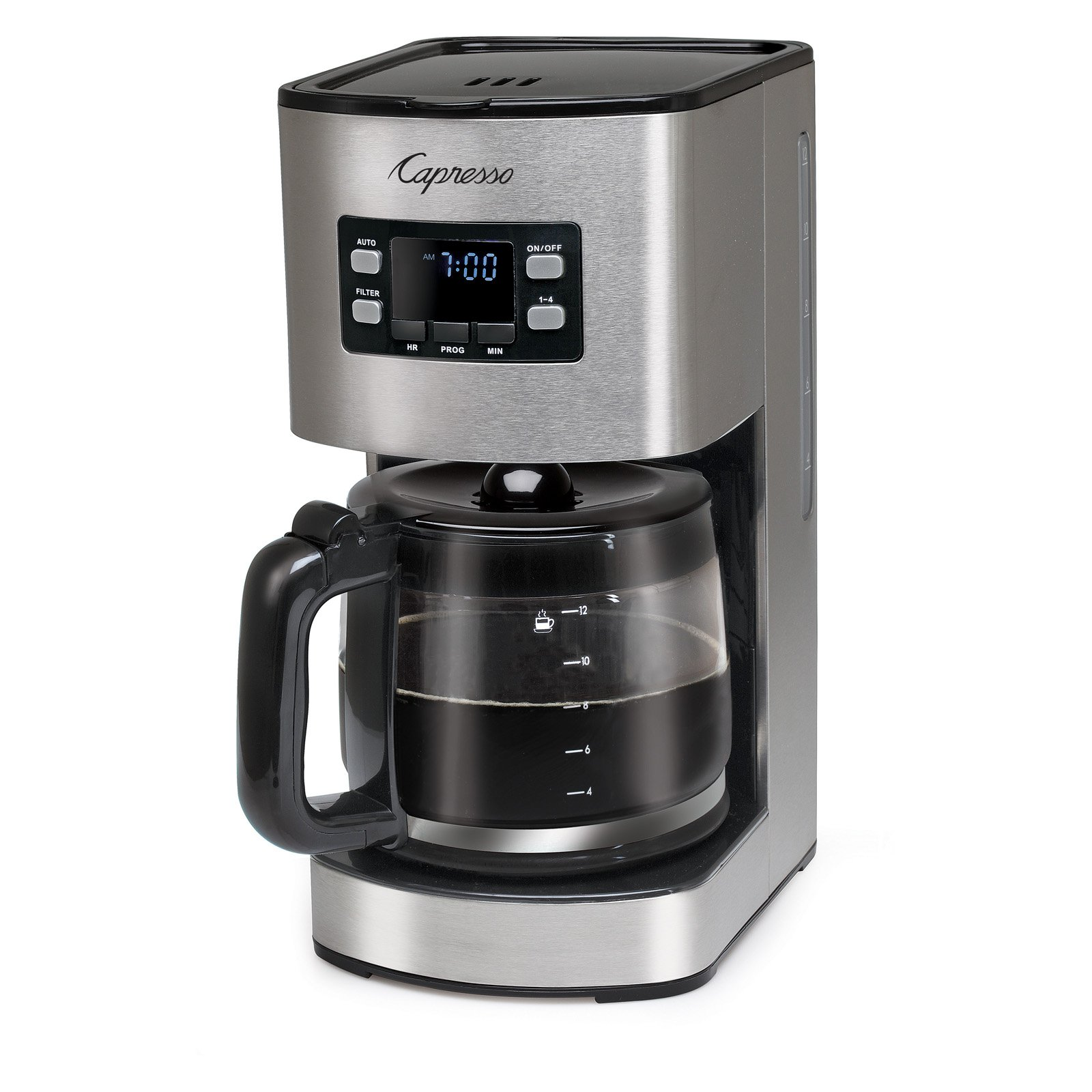 Capresso SG300 S/S Coffee Maker w/Glass Carafe