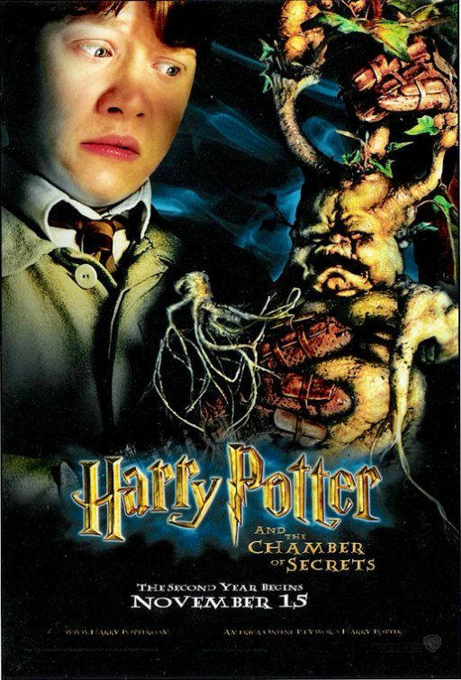 Harry Potter And The Chamber Of Secrets Movie Poster Harry Potter Movie Posters Harry Potter Films Chamber Of Secrets