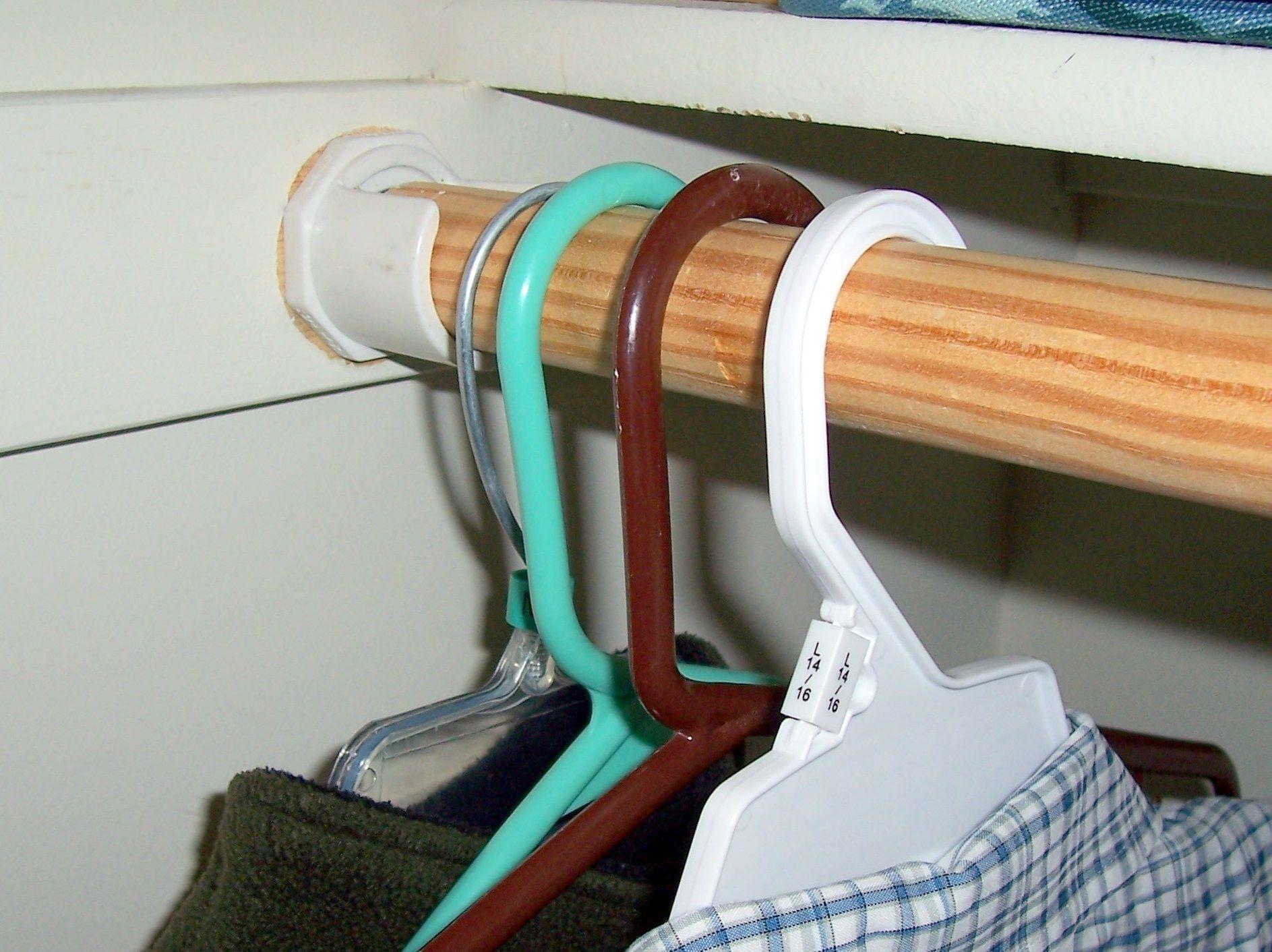 Hang It Up Closet Rod Closet Rod Wooden Closet Hanging Closet Organizer