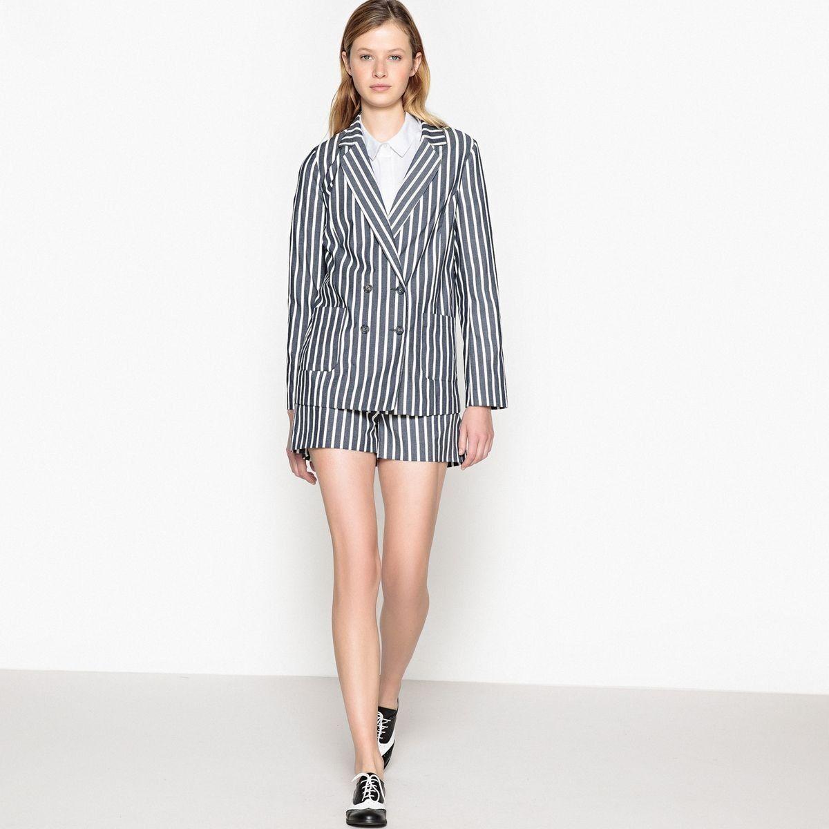 cf95de41f Veste tailleur à rayures en 2018 | Products | Striped shorts, Shorts ...