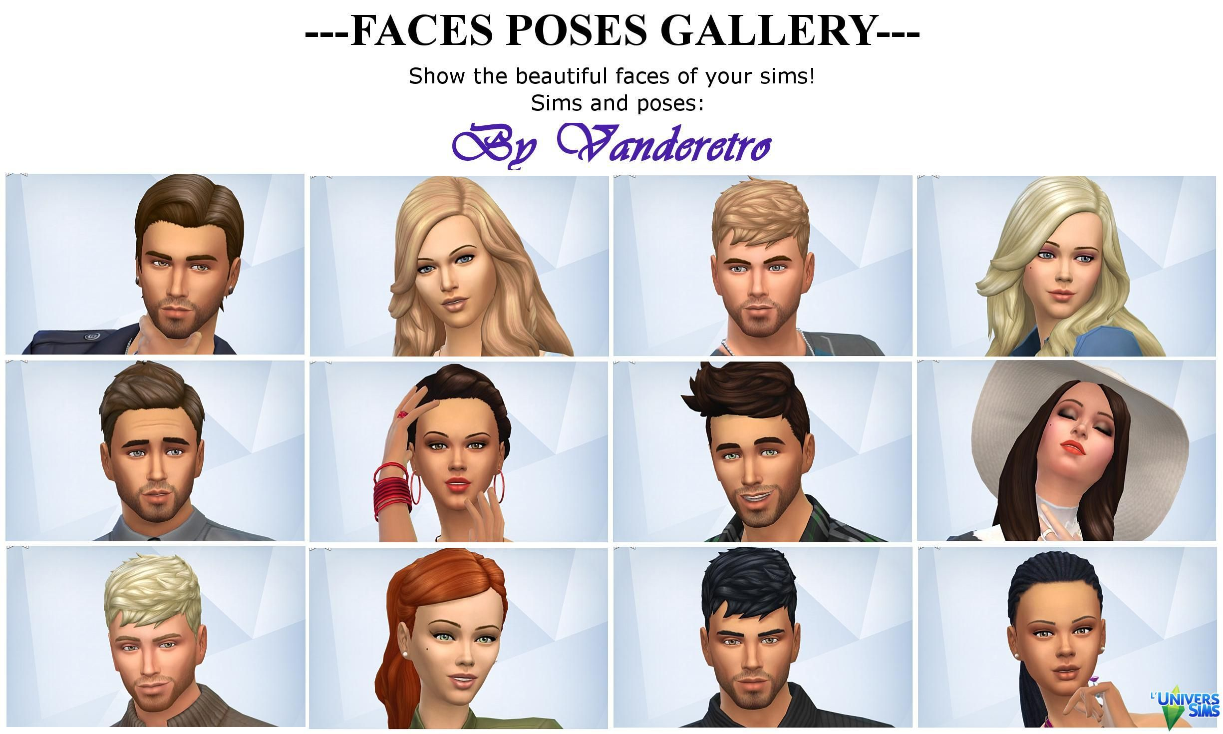 cas and gallery faces poses by vanderetro poses l universims