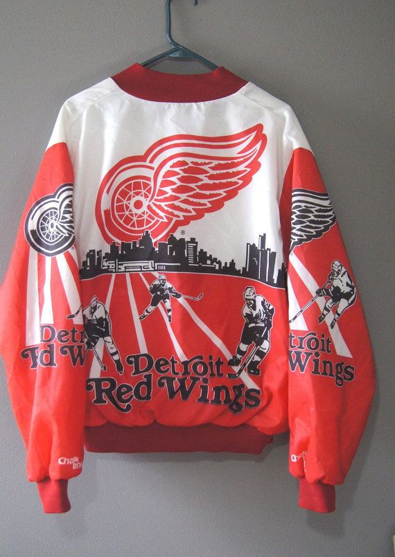 Vintage Detroit Red Wings Chalk Line Jacket Fanimation xl Hockeytown ... 6ef89cf81