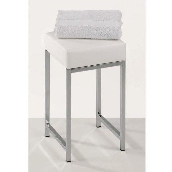 Tabouret carr chrome dw 64 salle de bains haut de gamme Accessoire salle de bain luxe
