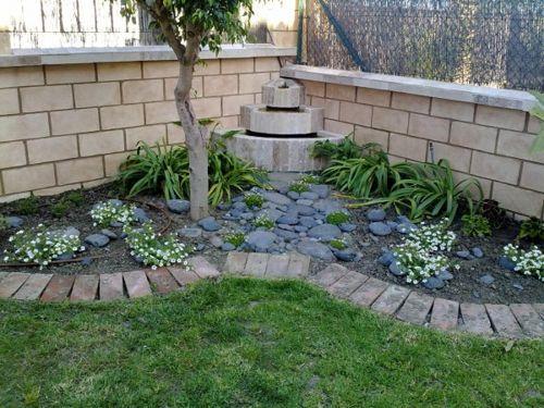 Decoracion De Jardines Con Ladrillos Jardines Decoraciones De Jardin Jardin Con Piedras