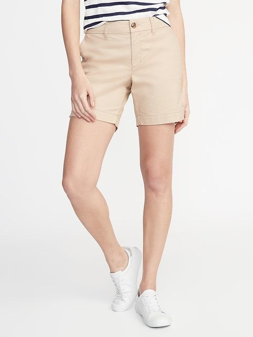 4bab0576c7 Mid-Rise Twill Everyday Shorts for Women - 7-inch inseam | Old Navy ...