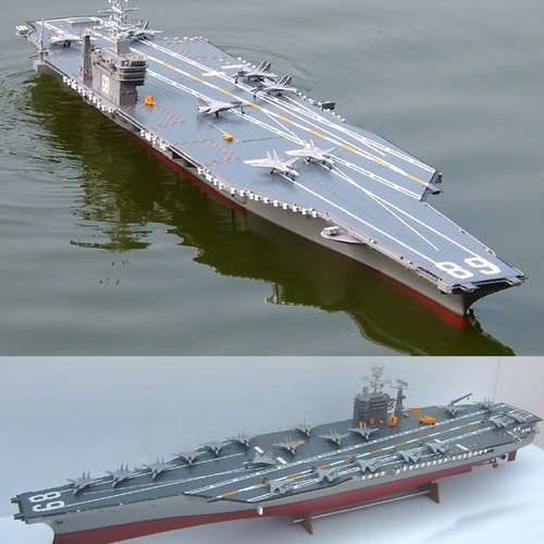 HUGE NEARLY 6 FOOT RC RADIO CONTROL USS NIMITZ CARRIER SHIP BOAT
