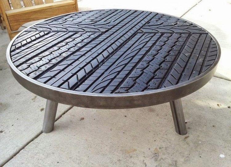 Tire tread coffee table