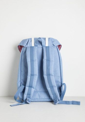 Paquete y Forth Mochila de Herschel Supply Co. - azul, sólido, de trabajo, Vestimenta, Minimal, empollón Nifty, Primavera, Verano, Mejor, Viajes, Scholastic / Colegiata