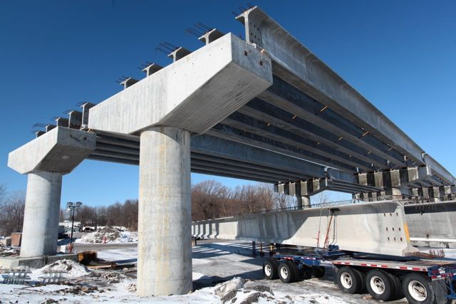 Beam Bridge Construction Materials : Precast girder beams nebt
