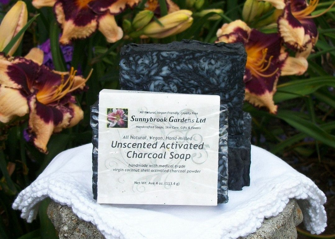 Unscented Activated Charcoal Hand-milled Soap