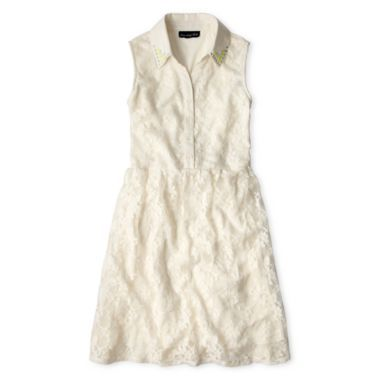 5111542f30c Disorderly Kids® Sleeveless Lace Shirtdress - Girls 7-16 found at  JCPenney