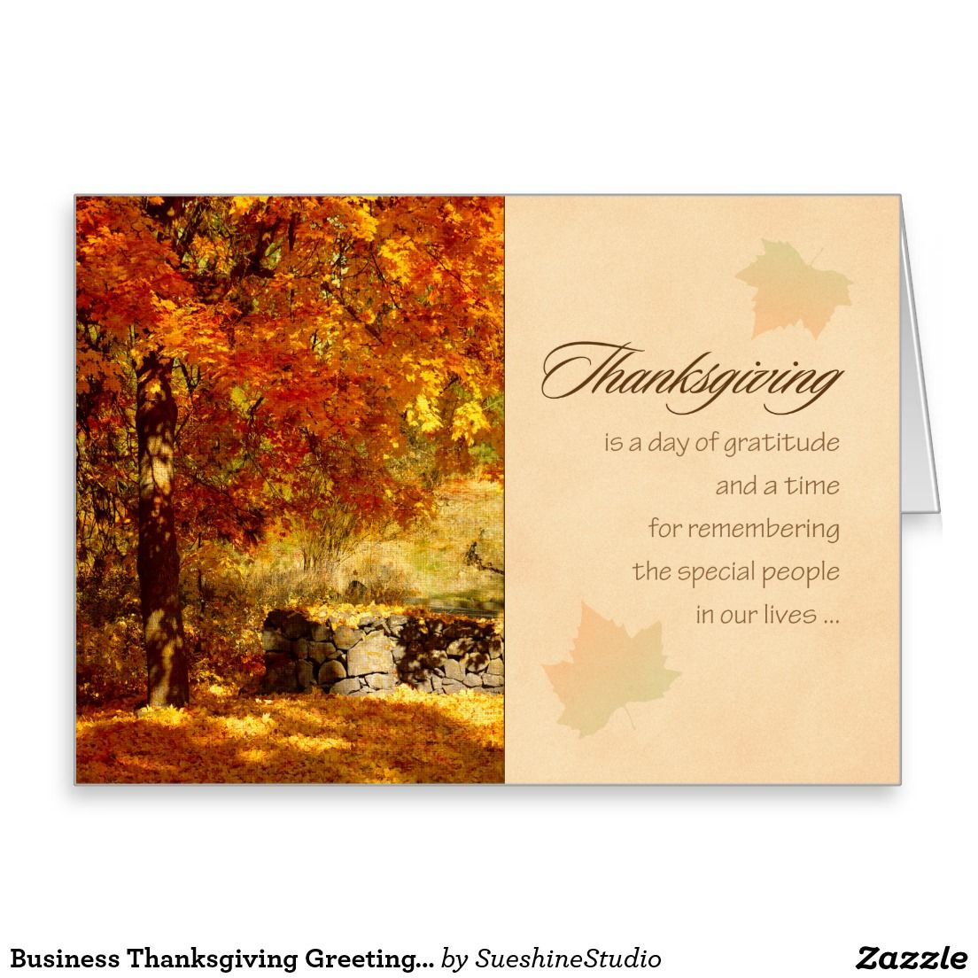Business Thanksgiving Greeting Card | Thanksgiving greeting cards ...