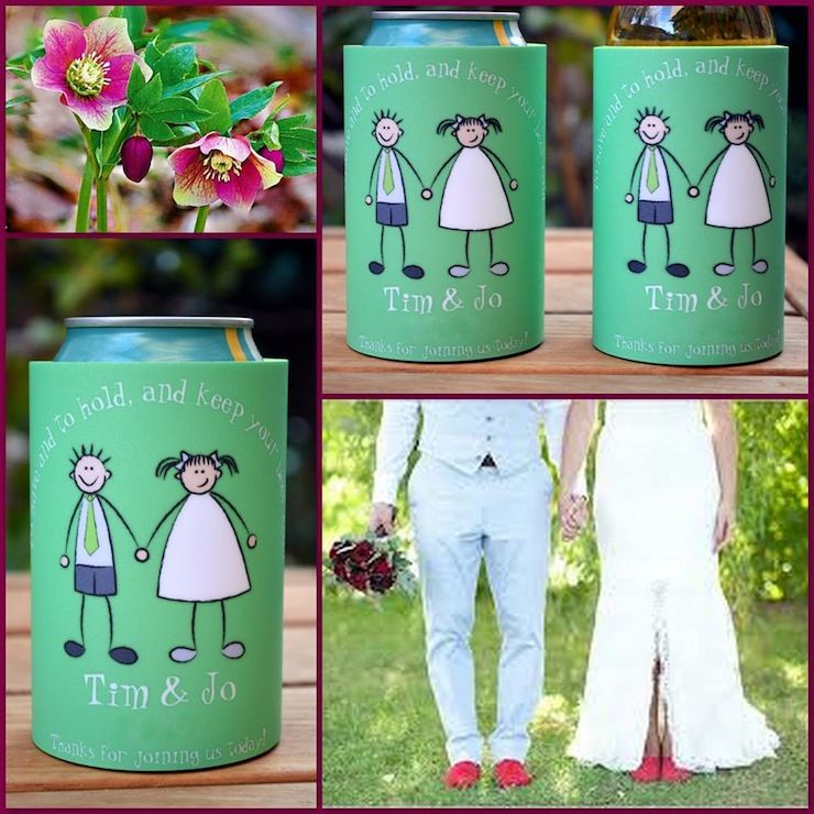 cute customized cartoon wedding koozies personal koozies are a great party favor get your