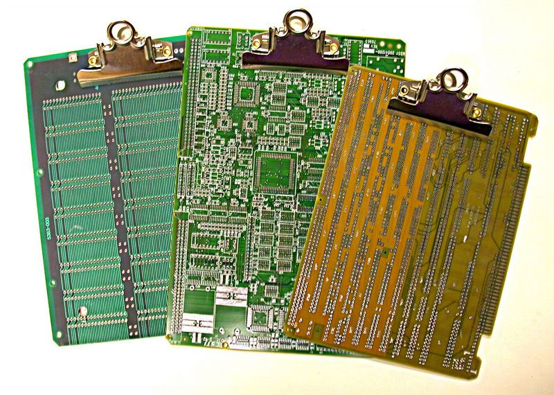 Recycled Vintage Circuit Board Clipboard Recyclen Electronica Me