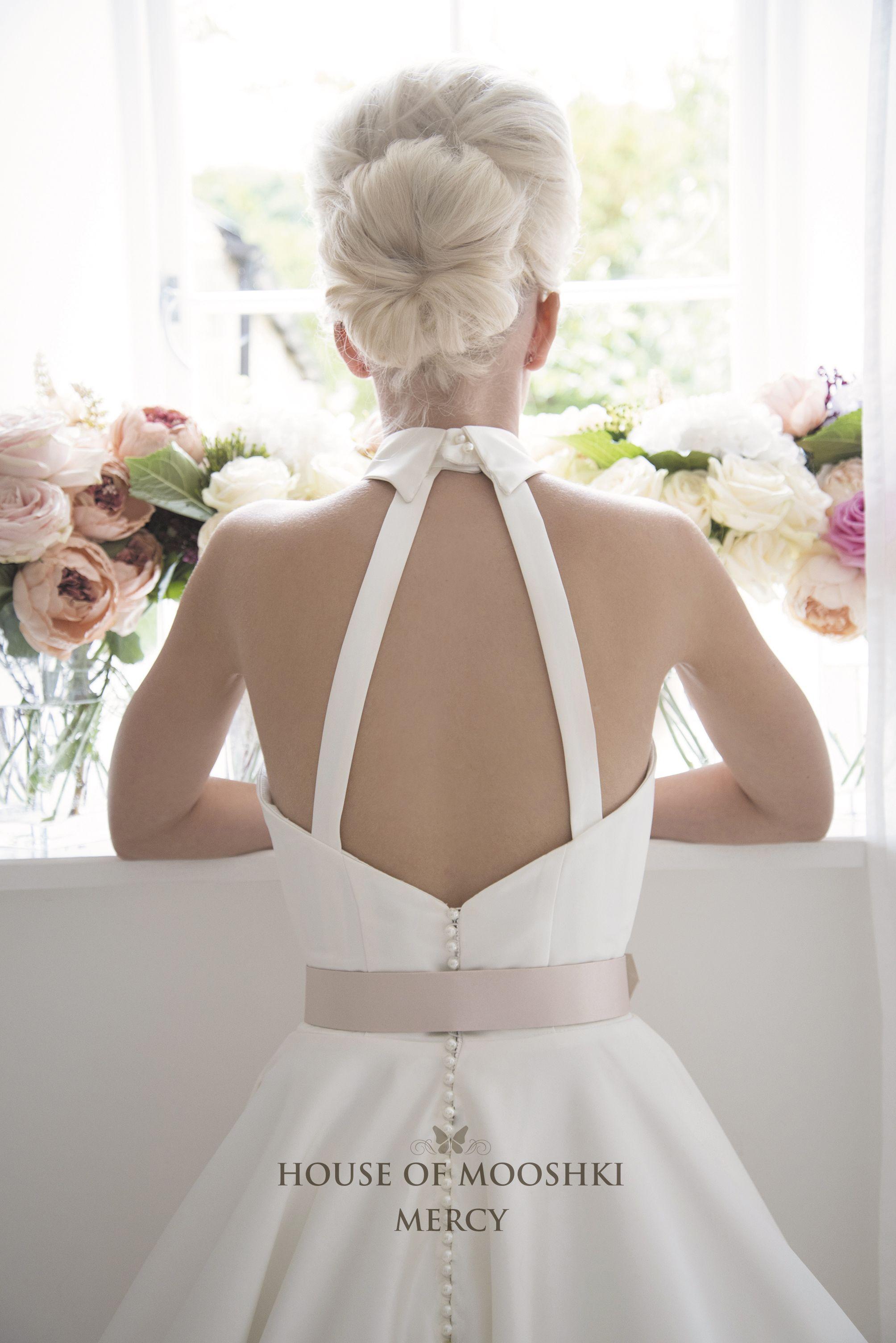 Mercy Is A Contemporary Take On A Vintage Tea Length Wedding Dress Halter Neck S Tea Length Wedding Dress Tea Length Wedding Dress Vintage Short Wedding Dress [ 3008 x 2008 Pixel ]