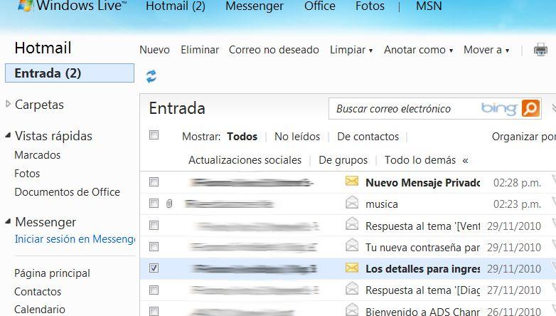 Pin en Hotmail Correo