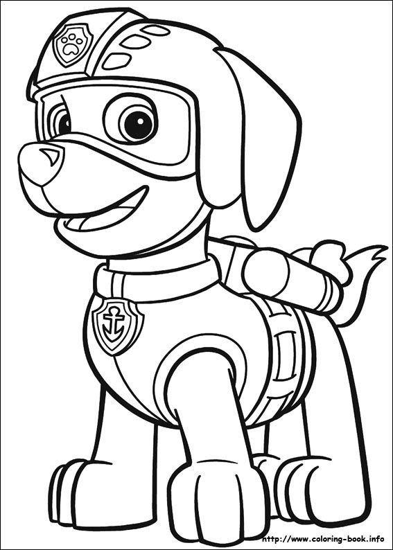 Paw Patrol coloring picture | 2 Color * Cute | Pinterest | Paw ...